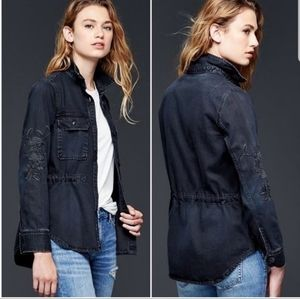 GAP embroidered shirt Jacket